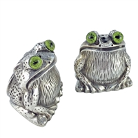 Solid Sterling Silver Frog Salt and Pepper Shakers by Francis Howard
