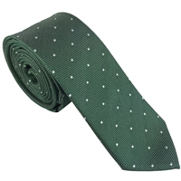 Green Iridescent Spot Silk Tie by Peckham Rye