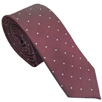 Red Iridescent Spot Silk Tie by Peckham Rye
