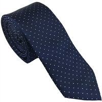 Blue Spot Silk Tie London Cut by Peckham Rye