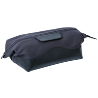 Leather and Canvas Gents Toiletry Bag with Zip