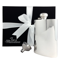 Silver Plated 7oz Hip Flask with Captive Top by Francis Howard