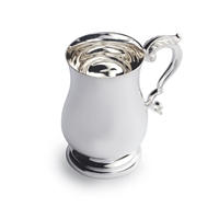 Silver Plated Georgian Style Pint Tankard by Francis Howard, Sheffield