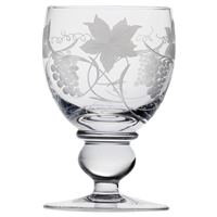 Vine Crystal Large Water or Wine Goblet by Royal Scot Crystal