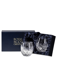 Pair of Edinburgh Whisky Tumblers, Gift Boxed by Royal Scot Crystal