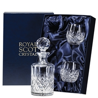 Edinburgh Whisky Tumbler and Decanter Set by Royal Scot Crystal