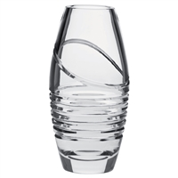 Crystal Saturn Design 20cm Vase by Royal Scot Crystal