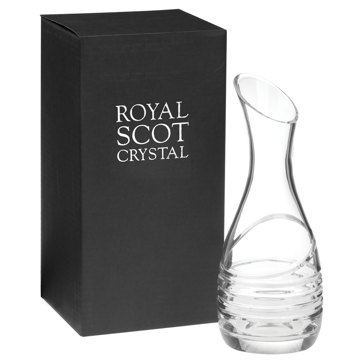 crystal saturn design carafe by royal scot crystal. Black Bedroom Furniture Sets. Home Design Ideas