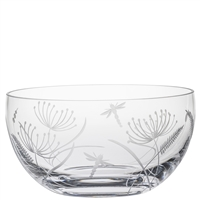 Crystal Dragonfly Design Fruit os Salad Bowl by Royal Scot Crystal