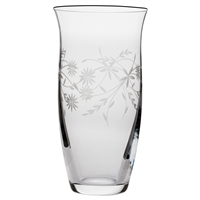 Crystal Daisy Design Large Tulip Vase by Royal Scot Crystal
