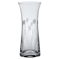 Crystal Wild Tulip Design Large Lily Vase by Royal Scot Crystal