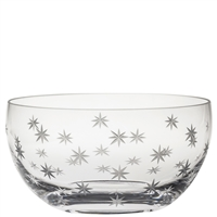 Crystal Starburst Design Large Fruit bowl or Salad Bowl by Royal Scot Crystal