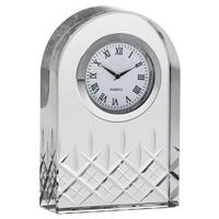 Hand Cut Crystal Clock, London Design by Royal Scot Crystal