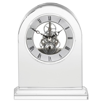 Classic Crystal Mantle Clock by Royal Scot Crystal
