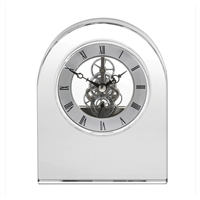 Classic Crystal Dome Mantle Clock by Royal Scot Crystal