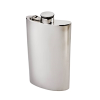 Kidney Shaped 8oz Pewter Hip Flask by Wentworth of Sheffield