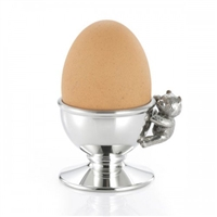 Pewter Teddy Bear Handled Egg Cup by Royal Selangor