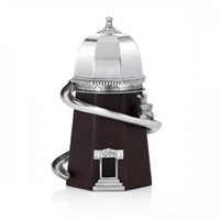 Wood and Pewter Bunnies Day Out Helter Skelter Music Box by Royal Selangor