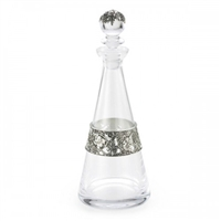 William Morris Wine Decanter European Glass with Pewter Detail by Royal Selangor