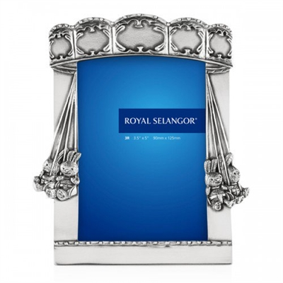 Carousel Pewter Children's Photograph Frame. 3.5 x 5 inch by Royal Selangor