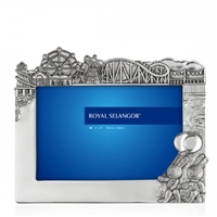 Pewter Children's Photograph Frame Fairground Design by Royal Selangor 6 x 4 inch