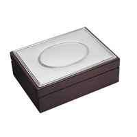 Wooden Trinket or Jewellery Box with Sterling Silver Top