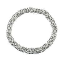 Sterling Silver Kings Byzantine Link Bracelet by Comyns of London