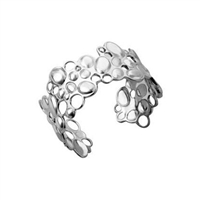 Sterling Silver 'Pebbles' Cuff Bangle by Comyns of London
