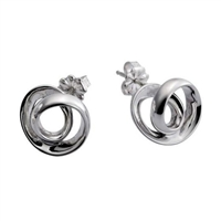 Sterling Silver 'Spatium' Earrings by Comyns of London