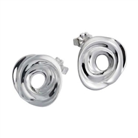 Sterling Silver 'Ignis' Earrings by Comyns of London