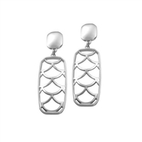 Sterling Silver 'Jazz' Drop Earrings by Comyns of London