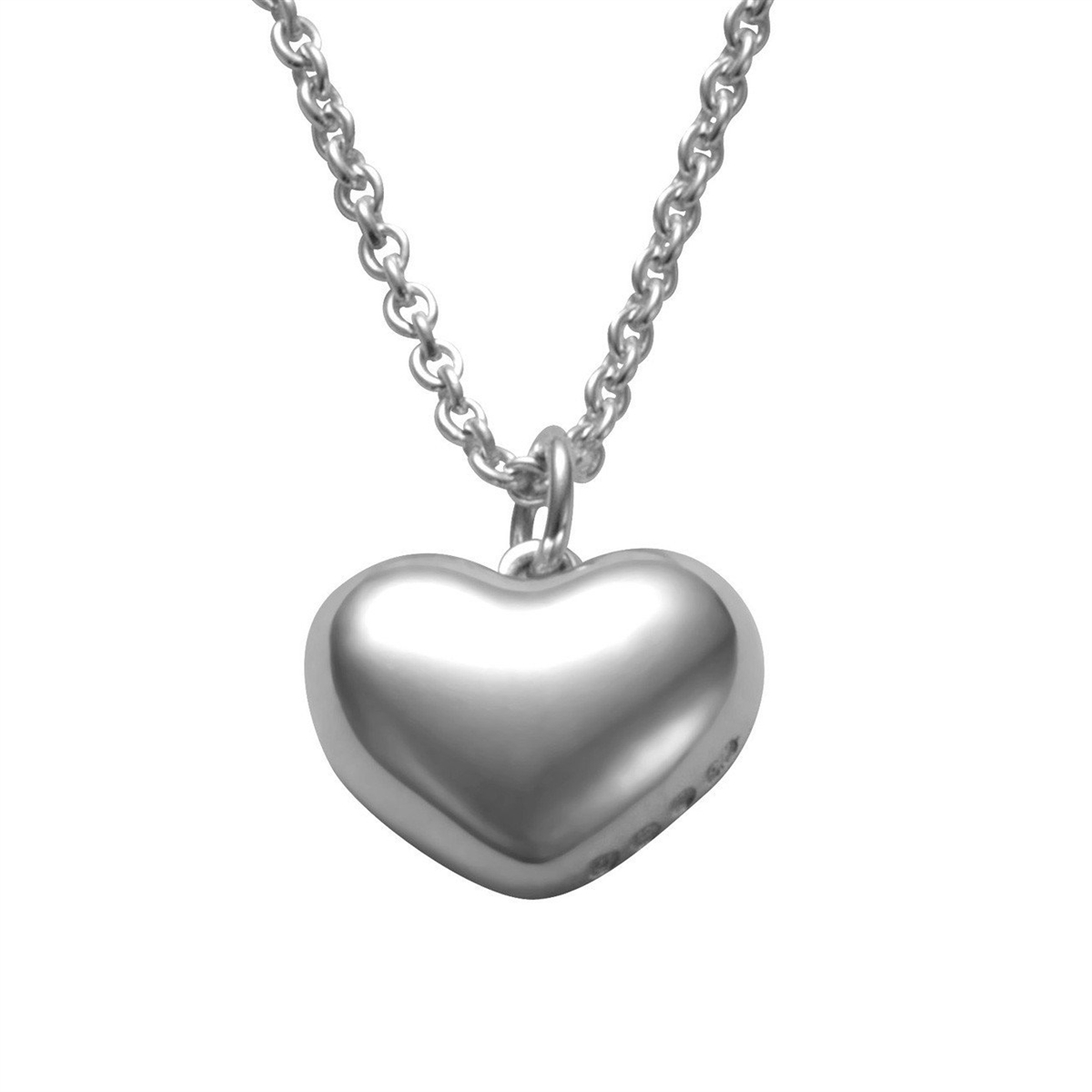 a9bb455c666 Sterling Silver Polished Heart Pendant Necklace by Comyns of London