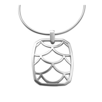 Sterling Silver 'Jazz' Pendant Necklace by Comyns of London