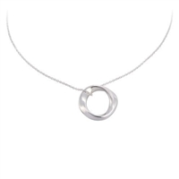Sterling Silver 'Ava' Pendant and Chain by Comyns