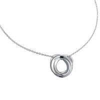 Sterling Silver 'Ignis' Design Pendant and Chain by Comyns