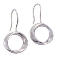 Sterling Silver 'Ava' Drop Earrings by Comyns of London