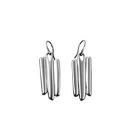 Sterling Silver 'Razor Shell' Drop Earrings by Comyns of London