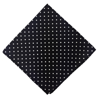 Black & White Polka Dot Silk Pocket Handkerchief Square by Peckham Rye