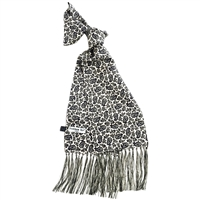 Silk Black Monochrome Kestrels Nest Pattern Scarf by Peckham Rye