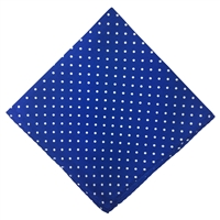 Royal Blue & White Polka Dot Silk Pocket Handkerchief Square by Peckham Rye