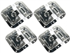 "(4) OSP ATA-BUTTERFLY-4 Recessed Butterfly Latch 4"" x 4.25"" For ATA Road Case"