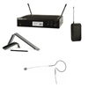 shure blx14r wireless system with tan earset microphone