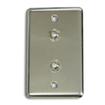 OSP Duplex Wall Plate With Two - 1/4 inch