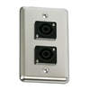 OSP Duplex Wall Plate with Two -Speakon