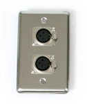 OSP Duplex Wall Plate With 2 -XLR