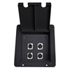 Elite Core Stage Recessed Pocket Audio Floor Box with 3 XLR Mic & 1 ethercon RJ45 Connectors
