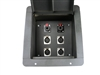 "Elite Core Recessed Pro Audio Stage Floor Box with 4 XLR and 2 1/4"" Connectors"