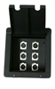 Elite Core Recessed Metal Stage Pro Audio Floor Box with 6 XLR Mic Connectors