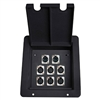 Elite Core Stage Pocket Pro Audio Floor Box with 6 XLR Mic & 2 Ethercon RJ45 Connectors