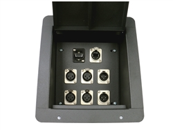 Elite Core Recessed Stage Floor Box 4 XLR Female, 2 XLR Male, 1 Ethernet RJ45 & 1 HDMI